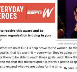 ESPN W Toyota Everyday Heroes Quote GRO