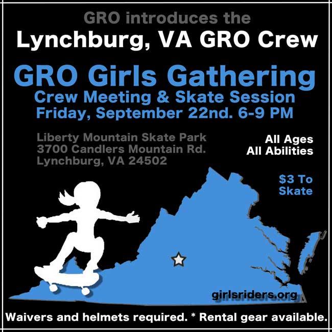 Sept 22nd Lynchburg GRO Girls Gathering